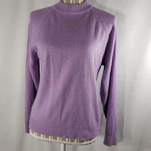 Designers Originals Purple Mock Sweater Medium